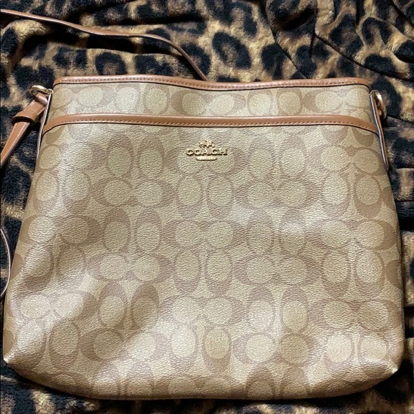 Coach Handbags - Coach Signature File Bag Crossbody PVC